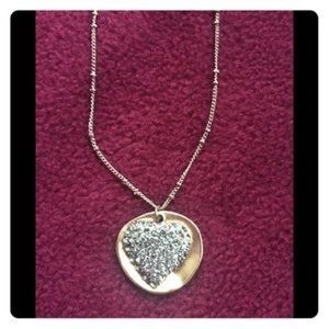 NIB J Jill Holiday Heart Gift Giving Necklace